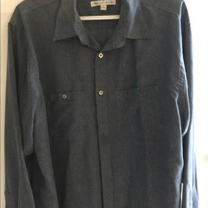 Geoffrey Beene Blue Long Sleeve Shirt